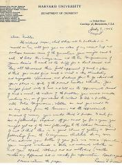 1946 - 47 Correspondence Relating to Milton Orchin's Application for a Fellowship in pre-State of Israel Palestine