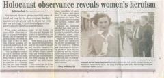 Holocaust observance reveals women's heroism