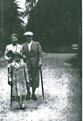 Edward Herman with his parents