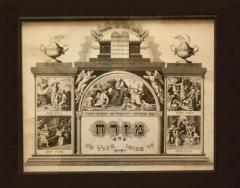 1900 Mizrach depicting several Biblical Scenes