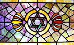 20th Century Stained Glass Window from Congregation B'nai Moshe (Detroit, MI)