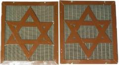 Metal Screen with Star of David from Beth Jacob Synagogue (Cincinnati, OH)