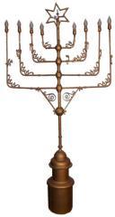 20th Century Electric Hannukiah from Bet Tefillah Synagogue (Cincinnati, OH)