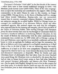 Rabbi Avrahom Gershon Lesser Bio from Book, United States Jewry 1776 - 1985