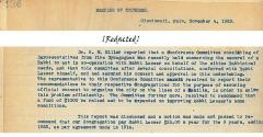 Information Regarding 1923 Committee of 5 Cincinnati Synagogues Joining to Create Community Governing Body