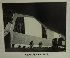 Photograph of the 6438 Stover Avenue Location of Golf Manor Synagogue (Cincinnati, Ohio)