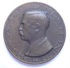 """Dr. Karl Landsteiner """"Father of Blood Groups"""" Medal"""