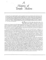 History of Temple Sholom (Cincinnati, OH)