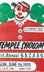 Temple Sholom 1st Annual Bazaar, June 26, 1955 (Cincinnati, OH)