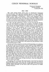 History of Czech Memorial Scrolls