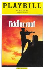 Playbill for Fiddler on the Roof at the Aronoff Center (Cincinnati, OH)