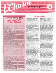 L'Chaim: The Weekly Publication for every Jewish Person Volume 32