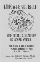 """Empower Yourself and Future Generations of Jewish Women"" program on January 28, 2001 hosted by Women's American ORT (Cincinnati, OH)"