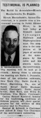 Article Regarding 1942 Event to Celebrate Rabbi Eliezer Silver's Sixtieth Birthday and 10 Years in Cincinnati