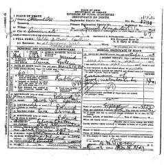 Death Certificate for Rabbi Bezalel Epstein (Cincinnati, Ohio) - 1938