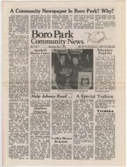 Boro Park Community News Newspaper dated Wednesday, May 7, 1975