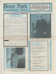 Boro Park News Newspaper dated November 2007