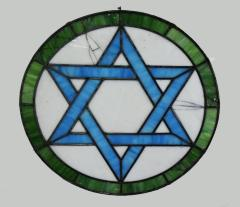 Stained Glass Window from Nezhiner Synagogue, Philadelphia, PA