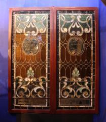 Stained Glass Transom Windows from Sherith Israel Cemetery Chapel (Cincinnati, Ohio)