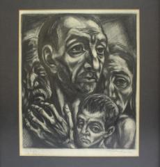 """Sketch of Men, Woman and Child titled, """"My People."""""""