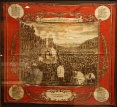 1870 Wall hanging Commemorating a Yom Kippur Service