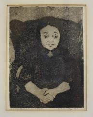 """Sketch of Woman entitled """"The Poetess"""""""