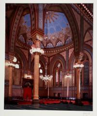Photograph of Interior of Plum Street Temple, Cincinnati, Ohio by J. Miles Wolf