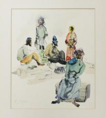Bedouin Camp Painting