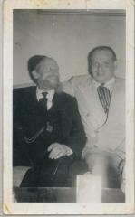 Picture of Rabbi Eliezer Silver and Unidentified Individual