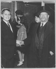Photographs from the Bar Mitzvah of Gerson Silver, Grandson of Rabbi E. Silver, 1965