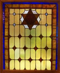 Leaded Stained Glass Window from Beth Israel Congregation, Philadelphia, PA