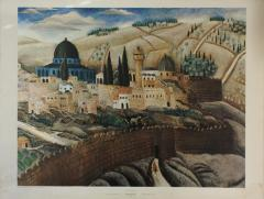 """Jerusalem,"" Print of Original Work by Reuven Rubin, 1923"