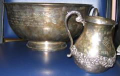 Netilat Yadayim (Hand Washing) Cup in Memory of Rabbi Hyman J Cohen Donated to the Roselawn Synagogue (Agudath Achim), Cincinnati, Ohio