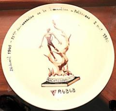 Sachsenhausen Liberation Commemorative Plate