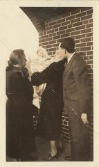 Photographs of Rabbi David Silver, his mother-in-law and one of his children