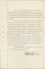 Document regarding the Gravestone Misprints for Marcus Feldman, 1957