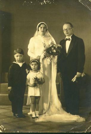 Paula and Mortiz Fenichel, wedding photo