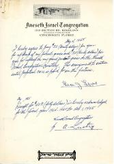 Agreement for the hiring of Edward L. Rose, May 27, 1964