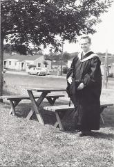 Henry Fenichel in Graduation Robes