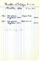 Libbye Miller cemetery account statement from Kneseth Israel, beginning in 1961