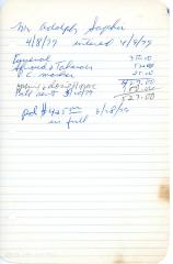 Adolph Saphir's cemetery account statement from Kneseth Israel, beginning July 28, 1978