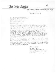 Beth Tvilah Sisterhood 1971 Fundraising Letter to Kenova Avenue Mikveh