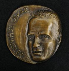 Oskar Schindler Bronze Medal by Holocaust Survivor Marika Somogyi - 1995