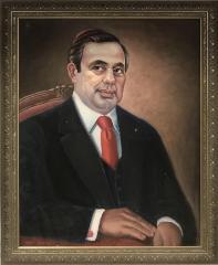 Painting of Rabbi Jacob Lustig by Greg Sokolsky
