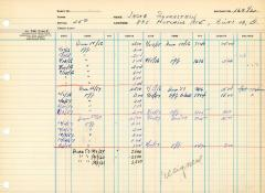 Financial Statement from Kneseth Israel for the member account belonging to Jacob Silverstein, beginning March 27, 1956