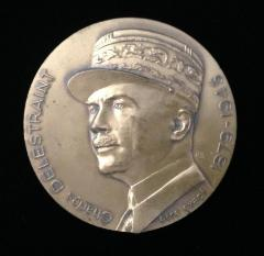 French Medal in Honor of Charles Delestraint, leader of the Armée Secrète during WWII in France, Executed in Dachau