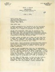 Letter to Rabbi Samuel Fox from Paul J. Haas, 1966