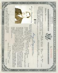 United States Certificate of Naturalization (Benjamin)