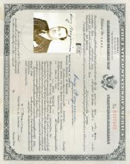 United States Certificate of Naturalization (Benjamin)