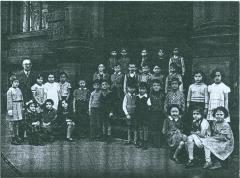 Photo of class with teacher